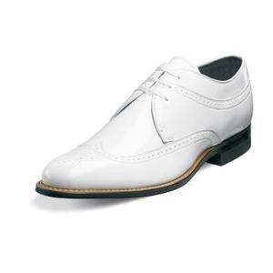 Stacy Adams Dayton Mens Leather Shoes White 00605