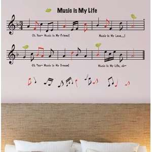 Notes ADHESIVE WALL ART DECO MURAL STICKER KR 0029