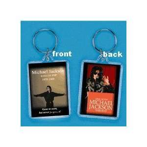 Michael Jackson Tribute Keychain Memorial #2   King of Pop