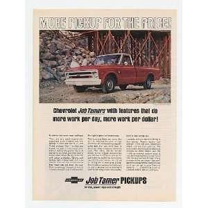 1968 Chevy Half Ton Fleetside Pickup Truck Job Tamer Print