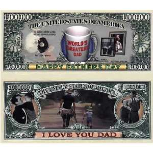 Set of 10 Bills Fathers Day Million Dollar Bill Toys & Games
