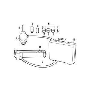Units 1/4 Diameter High Pressure Hose with 11 Ton Hydraulic Ram 063