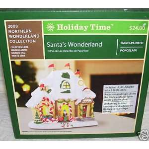 Holiday Time Santas Wonderland/Village Piece/Christmas Village Santa