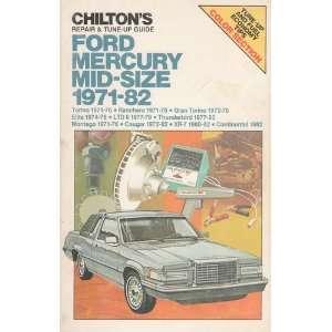 guide, Ford, Mercury, mid size, 1971 82: Torino 1971 76, Ranchero 1971