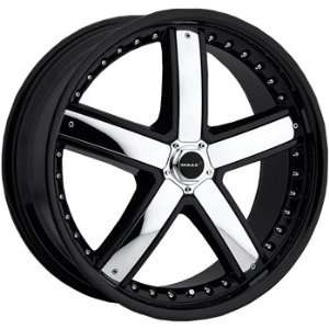 MAAS M28 18x8 Black Wheel / Rim 5x100 with a 35mm Offset and a 73.00