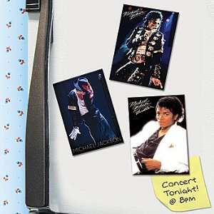 Michael Jackson The King of Pop Career Stages Portraits Magnet Set of