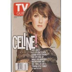 Celine Dion Cover TV Guide Magazine March 30   April 5