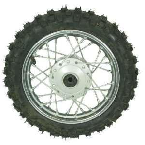 10 Dirt Bike Front Wheel Assembly   4 bolt: Sports