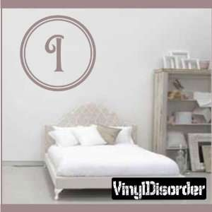 Monogram Letters Vinyl Wall Decal Sticker Mural Quotes Words Mg002i