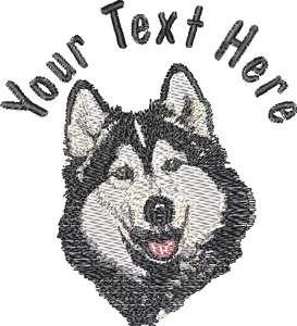 Siberian Husky Dog Custom Kennel   Name on Hat