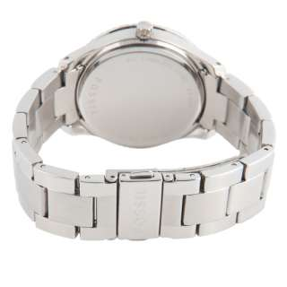 NEW Fossil Womens Stella Stainless Steel Silver Crystal Quartz Watch