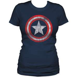 Captain America Vintage Ladies Women T shirt top tee