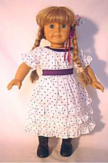 Kirsten Midsummer Nights Purple Polka Dot Dress fits American Girl