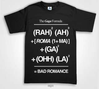 LADY GAGA T Shirts bad romance lyrics formula in Carbon