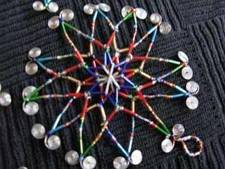 Handmade African Zulu Bead Star Christmas Ornaments