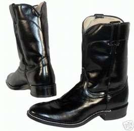 MENS 10 LAREDO BLACK ROPER COWBOY BOOTS 12 D NEW
