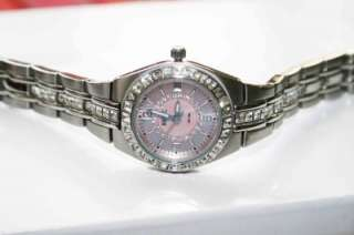 Relic by Fossil Rhinestone Pink Dial Watch ZR11787 Sale