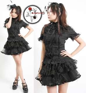 Retro Rock EGL Ruffles Lace Gothic Lolita Collar Shirt