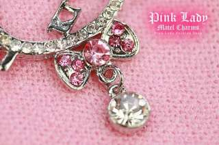 L16 Hello Kitty Crystal Bow Pendant Charm Necklace (&Gift Box)