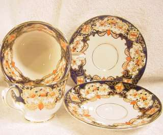 Royal Albert Crown China Heirloom Cups and Saucers England c 1930