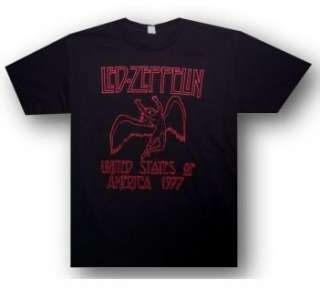 LED ZEPPELIN Swan Song Icarus 1977 USA Tour T SHIRT New