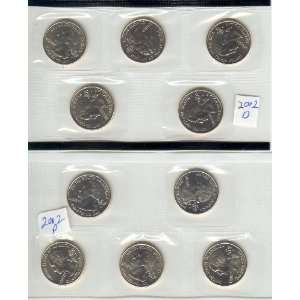 FIFTY STATE WASHINGTON QUARTER SET  YEAR 2002 P AND D MINT