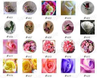 100 Wedding Custom Favor Tags Roses GP #3