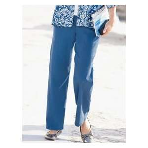 Womens Crinkle Cotton Solid Pants Fuchsia