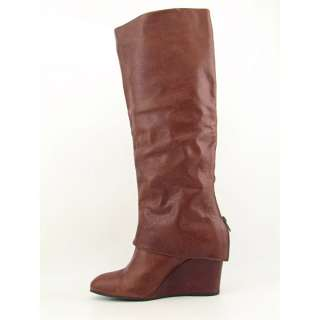 Steven Steve Madden Maryn Womens SZ 9.5 Brown Cognac Boots Knee Used