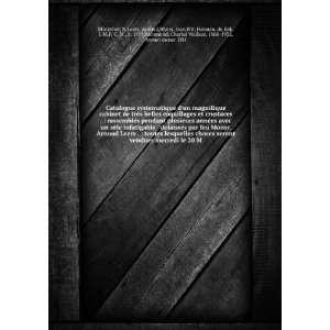 Catalogue systematique dun magnifique cabinet de très belles
