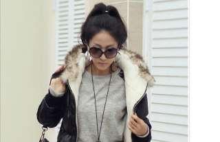 New Korean Women Ladies Leopard Batwing T Shirt Top Long Sleeve 1076