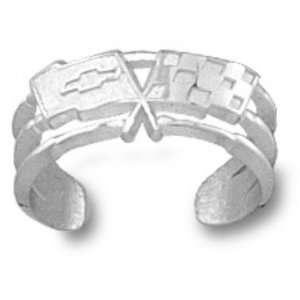 Chevy Corvette C3 Logo Toe Ring   Sterling Silver Jewelry: