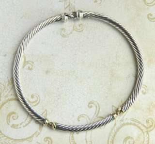 David Yurman 7mm Classic Cable Choker Link Necklace   Sterling Silver