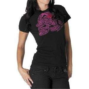 Metal Mulisha Womens Floral Cult T Shirt   Large/Black
