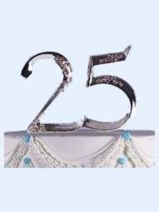 Wilton 25 Year Anniversary Pick Cake Toppers 25th New