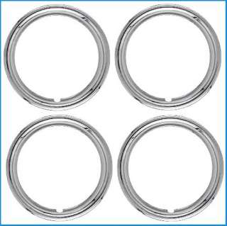 15 Chrome ABS Trim Rings Set 1 3/4 Depth Beauty Rings
