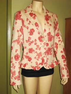MOSCHINO Jeans DONNA FLoral Blazer Jacket sz 48 8 9 10