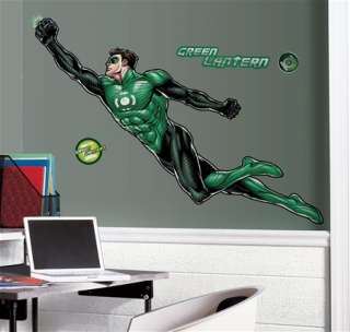 Green Lantern Giant Peel & Stick Wall Decal Sticker NEW