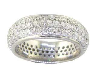 00Ct Round Cut Diamond Jewelry 14Kt White Gold Eternity Engagement