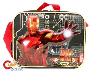 Marvel Iron Man School Lunch Bag   Insulated Snack Box