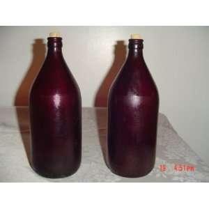 ROYAL RUBY Anchor Glass Quart Bottles