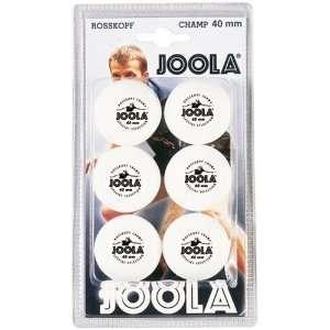 Joola Rossi Champ 1 Star 40mm Table Tennis Balls   6 Pack