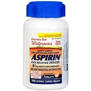 com Walgreens Aspirin Adult Low Strength Safety Coated Tablets 81 mg
