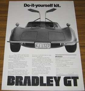 1974 VINTAGE AD BRADLEY GT KIT CARS~VW VOLKSWAGEN CHASSIS