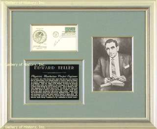 EDWARD TELLER   FIRST DAY COVER SIGNED