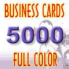 5000 Custom Color Business Cards + Glossy + Free Design
