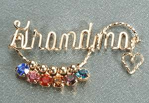 birthstones (also Nana, Memere, Babci, Yaya, Mother and Mom) gift