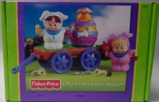 Little People Boy & Girl Pop Up Easter Wagon   Retired 2002