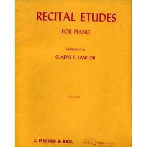 For Piano (J. F. & B. 9938 16) composer Gladys F. Lawlor Books