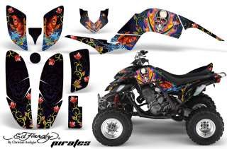 AMR RACING ATV QUAD GRAPHIC STICKER KIT YAMAHA RAPTOR 660 PART FREE US